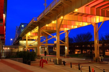 Dynamic LED Understructure Lighting: Louisville, KY, George Rogers Clark Memorial Bridge